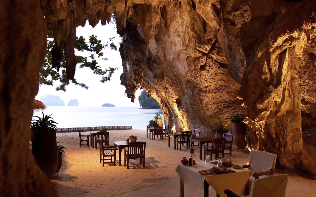 CNNtravel featured 'The Grotto' Restaurant at Rayavadee as one of the world's best waterfront restaurants.
