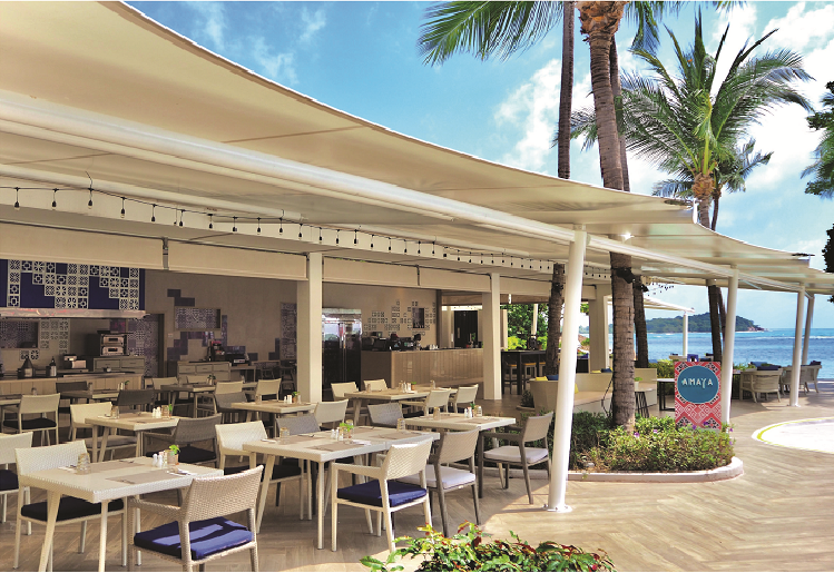 Newly Renovated Amaya Restaurant & Bar with al fresco seating